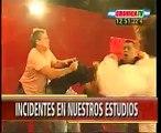 Pelea en Cronica TV - Anabela Ascar