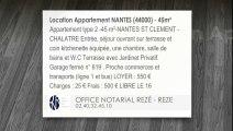 A louer - Appartement - NANTES (44000) - 45m²