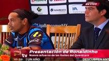 ¿Por qué decidió Ronaldinho jugar en México? / Presentación de Ronaldinho