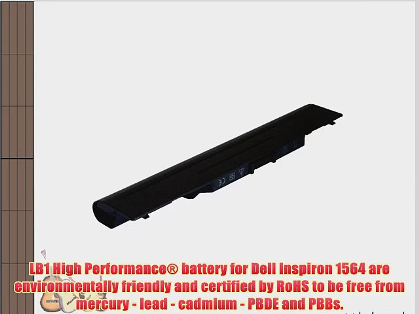 LB1 High Performance Battery for Dell Inspiron 1564 18 Months Warranty