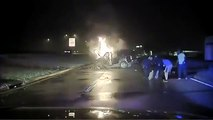 Police rescue man from burning vehicle in Mesquite, Texas