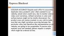 Blackout blinds Varieties