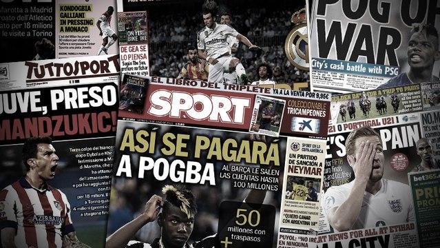 Le plan du Barça pour financer l'arrivée de Pogba, le nouveau caprice de Gareth Bale