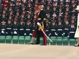 Kate Middleton and the Queen at Prince William's passing out parade at Sandhurst
