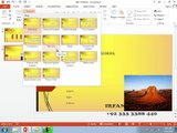 MS PowerPoint 2013 - Urdu Tutorials - Part 9