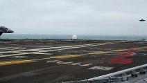 L'atterrissage d'un avion de chasse sur un porte-avions !