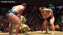 TOKYODV NUGGETS: Asashoryu Tosses Baruto in Sumo Match (HD)