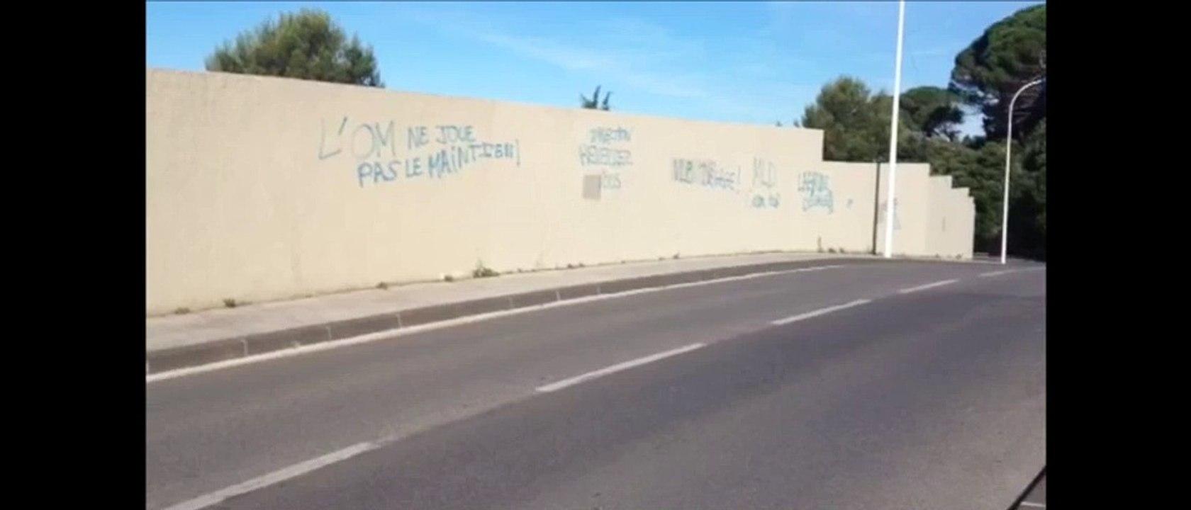 OM : les murs de la Commanderie tagués cette nuit