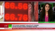 Russian ruble collapse, higher interest rates not helping