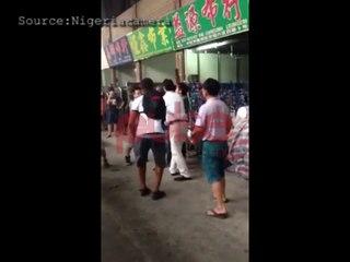 Chinese men beating Nigerian in China - Nigeriacamera, Pulse TV Uncut