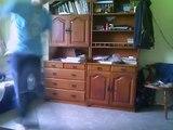 Breakdance practice (toprock, windmill, flare, rubberband, swipe, L-kick)