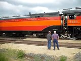 SP #4449 Pulling out of the Savanna, Illinois  BNSF Train Yard