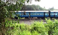 First WDP4D of South India honks and overtakes the Mangalore Express at Mangalore!!!