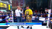 'Wrestlemania 29' Champion John Cena Interview: Wrestler Shows Off Title-Winning Wrestling Moves