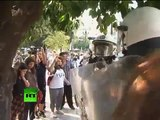 Greek austerity clashes: Riot Dog joins Athens protests