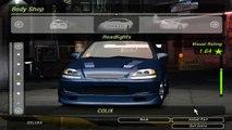 Need for Speed Underground 2 Honda civic tuning by RASTAKITTEN