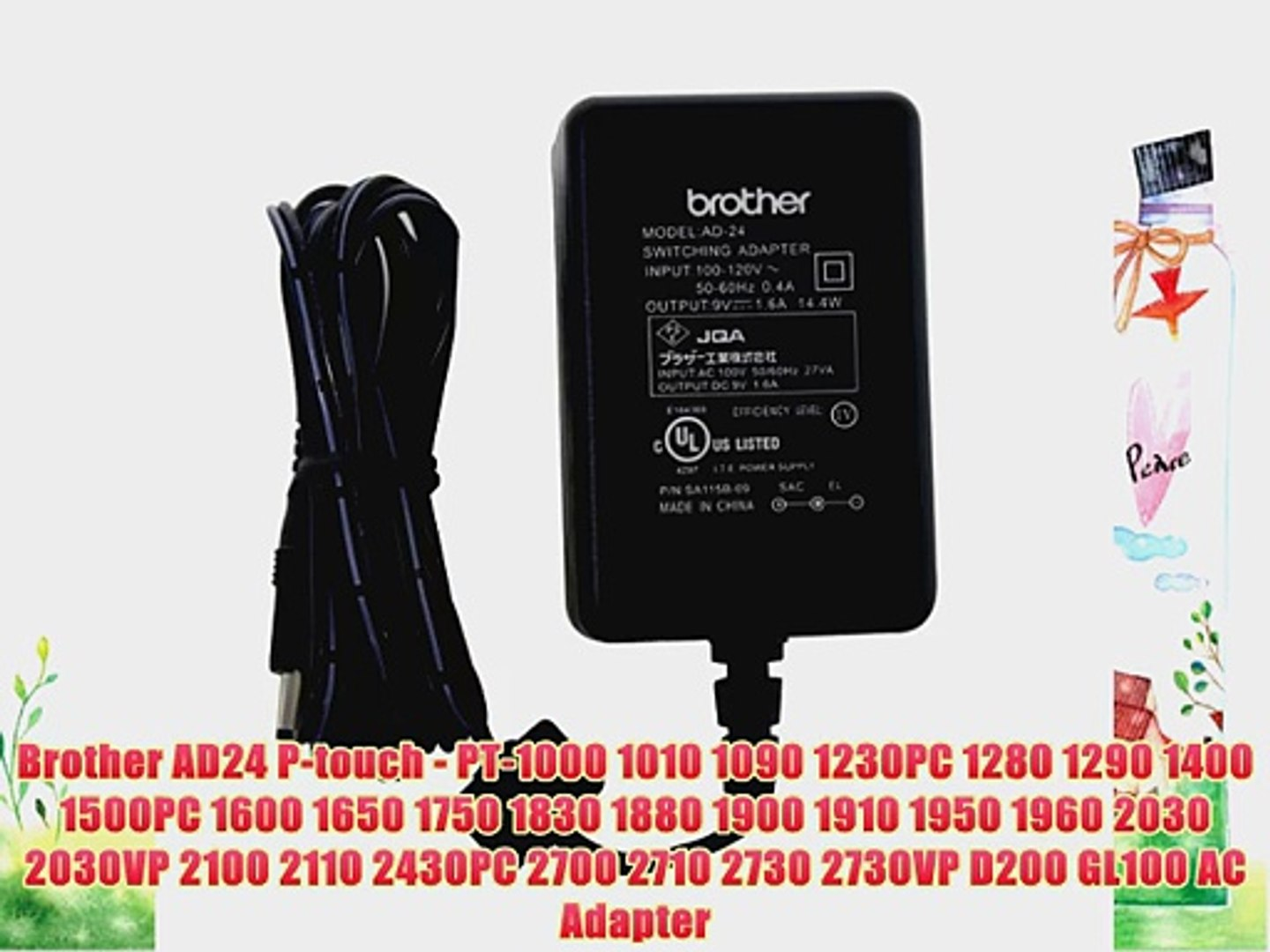 1000 1010 brother ad24 p-touch - pt-1000 1010 1090 1230pc 1280 1290