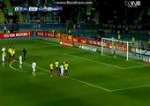 Raul Jimenez penalty kick | Mexico 1-2 Ecuador 19/06/2015