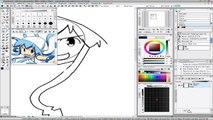 Dibujando Shinryaku! Ika Musume - Mini Ika Musume- Dibujando anime  - Drawing Shinryaku! Ika Musume