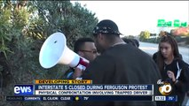 Angry driver attacks Ferguson protester blockading I-5 highway