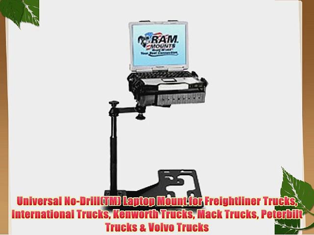 Universal No-Drill(TM) Laptop Mount for Freightliner Trucks International Trucks Kenworth Trucks