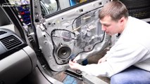 Как снять дверную панель на Mitsubishi Grandis