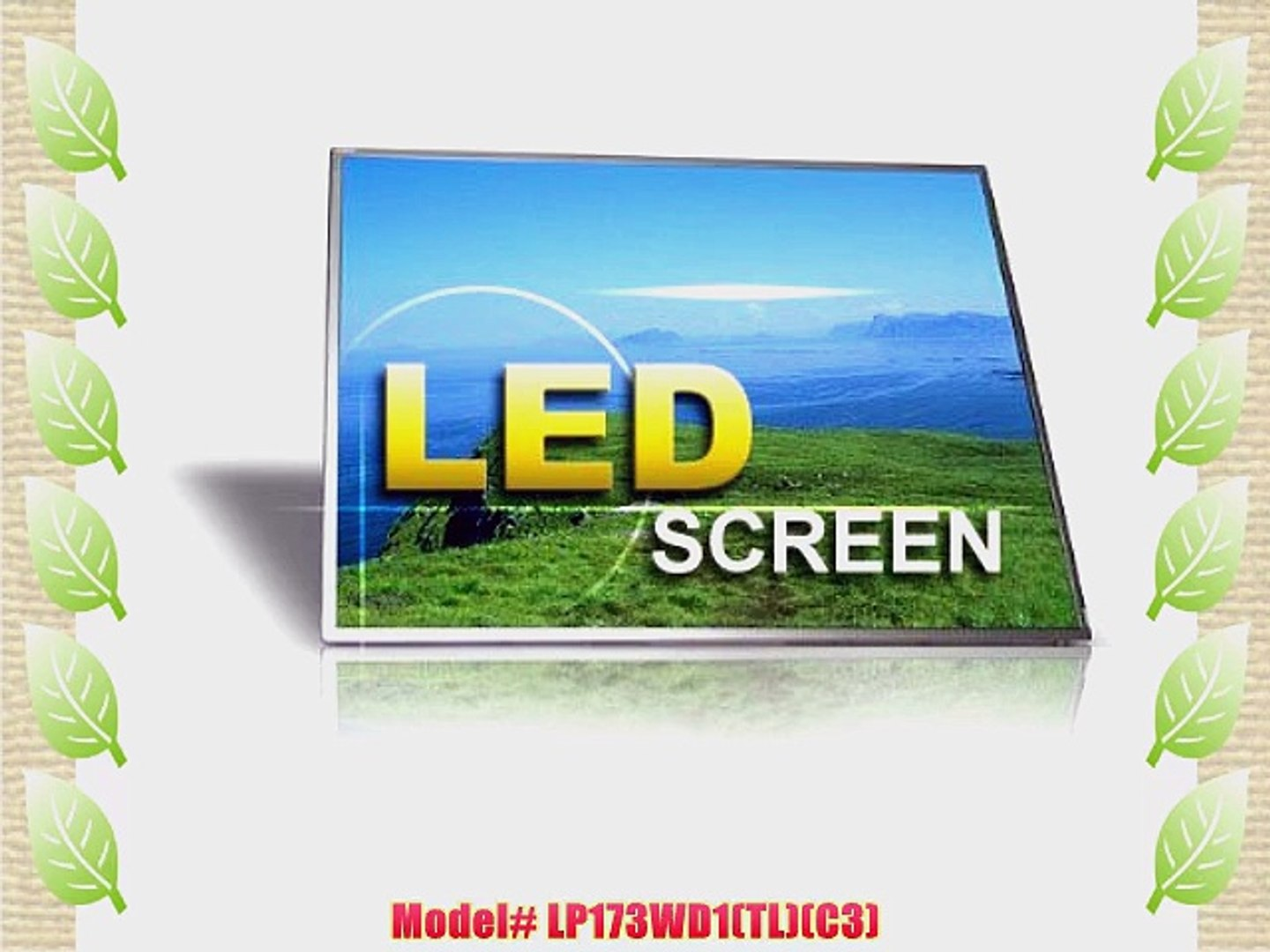 "17.3/"" LED Screen for AU OPTRONICS B173RW01 V.4 BOTTOM LEFT CONNECTOR LCD LAPTOP"