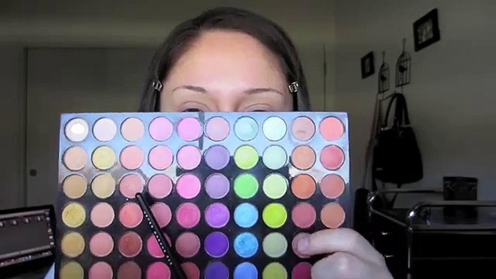 Dark green and brown makeup tutorial