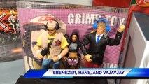 GTS WRESTLING: Flaming Tables! WWE Mattel Figure Matches Animation! Elite Figures!