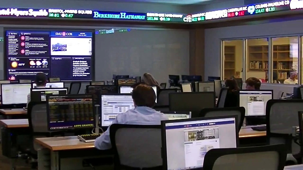 SMU Cox School of Business trading Room)