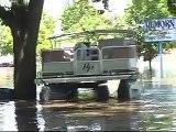 Boat tour of flooded downtown Cedar Rapids, Iowa