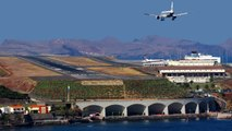 CRAZY Crosswind Landings At Madeira Funchal Airport Portugal - Aircraft Landing Aborts Bad Landings