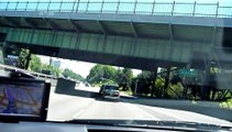 Prius Driving to Portland airport through City of Portland, Oregon