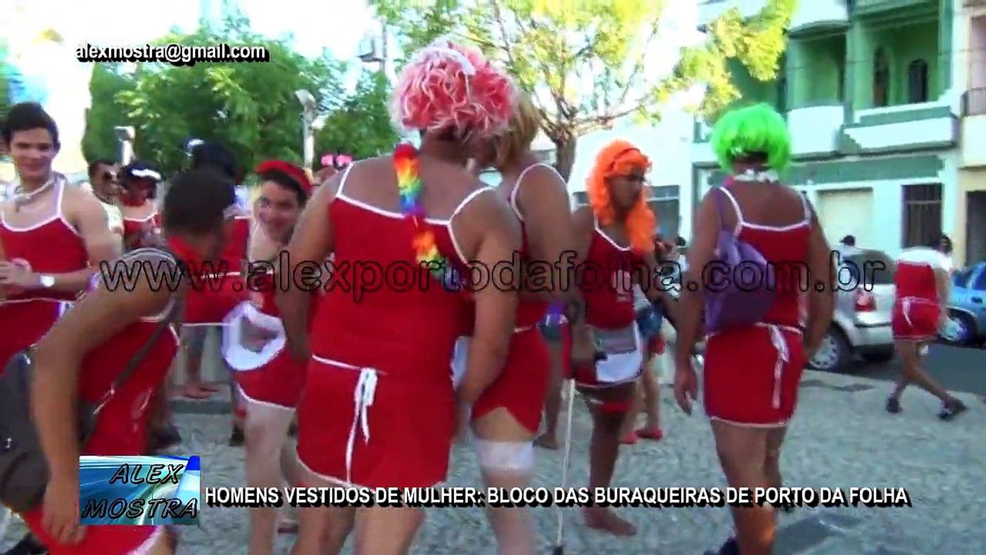 Homens Vestidos De Mulher: Bloco Das Buraqueiras De Porto Da Folha [HD]
