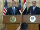 Shoes Thrown at President Bush | Shoes thrown at Bush by Iraqi Journalist Muntadar al-Zaidi