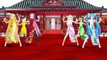 (MMD)Neru,Luka,Rin,Ia,Gumi,Miku - Senbonzakura