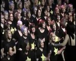 Rock Choir singing Mr Blue Sky at Indigo2 Rock, charity concert for Living Paintings