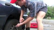 Judy & Jessie - dancers change a flat tyre