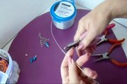 DIY EARRINGS OR PENDANT - WIRE CHRISTMAS TREE _Jewelry making