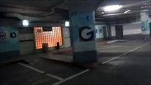 PARKING GARAGE TOUR: G Tel Baruch shopping center underground parking garage in Tel Aviv