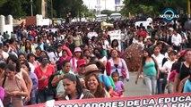 """""""Anarco"""" 2 de Octubre en Oaxaca, marcha Sección 22, CENEO y bloque negro"""