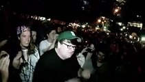 Michael Moore At Occupy Wall Street 9-26 LIVE with crowd mic
