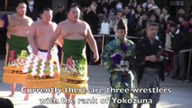 Dezuiri - Sumo Ring-Entry Ritual with 3 Yokozuna 2015
