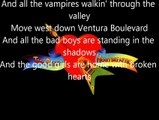 Tom Petty and the Heartbreakers - Free Fallin' (lyrics)