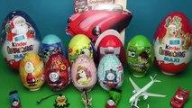 21 Surprise Eggs, Kinder Surprise, Kinder Joy, Disney Pixar Cars 2, Thomas vesves Friends, Spon