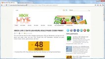Get Free Xbox Live Gold 48-hour 2 Day Pass Codes Xbox Live Gold Membership 2014