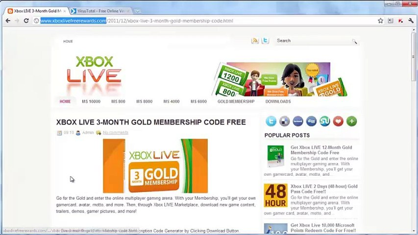 Xbox Live 3 Month Subscription Redeem Code Giveaway