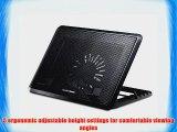 Cooler Master NotePal ErgoStand II - Adjustable Laptop Cooling Stand with LED Light Strip