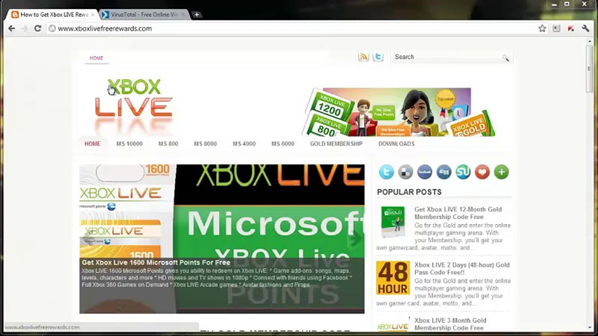 Xbox Live 10,000 Microsoft Points Redeem Code Download