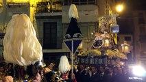 Virgen de los Dolores en la Plaza Arriba. Viernes de Dolores. Semana Santa de Loja 2014.